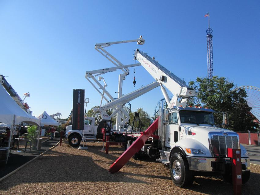 With two outdoor exhibit spaces as well as a variety of equipment on display in manufacturer's booths, Custom Truck One Source maintained a high profile at the show.