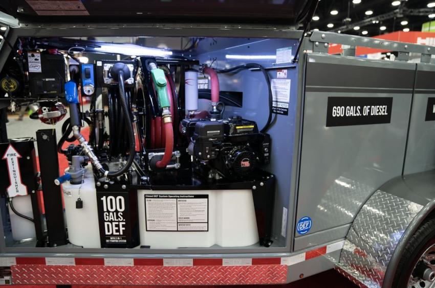 Thunder Creek Equipment's MTT690 multi-tank trailer allows for legally transporting diesel fuel without a HAZMAT. A rear utility box adds 3 ft. to the length and 650 lbs. to the empty weight.