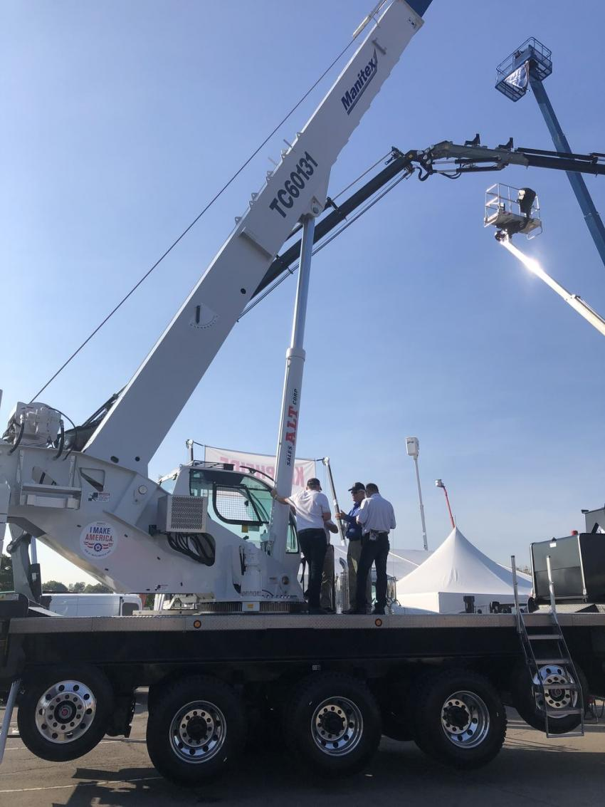 From Manitex, this TC60131 crane is one of hundreds of cranes available for up-close inspection.