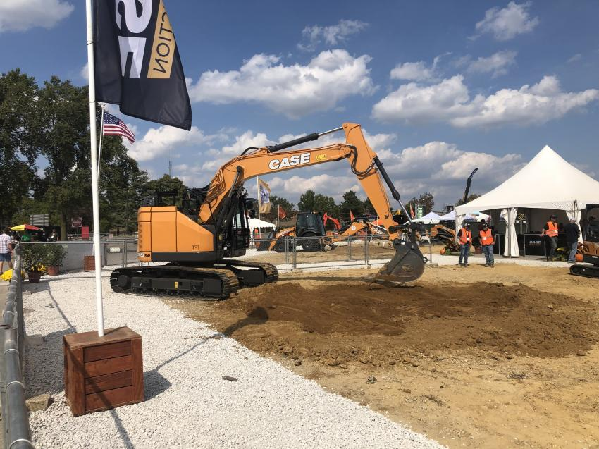 What can be better than going to a trade show and operating equipment? Entire theme parks are built around the idea. Case brought in a big cross-section of its fleet for attendees to take for a spin.