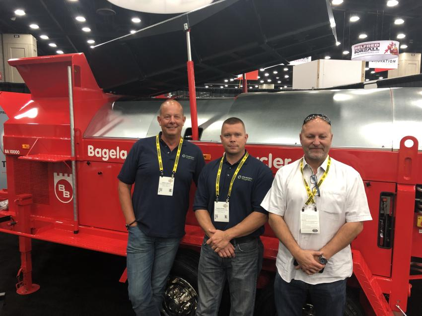 Not only is asphalt recycling continuing to be the wave of the future, it's extremely profitable and the people at Bagela are absolutely the leaders in the field. (L-R) are Greg Harla, Chris Spinella and Stewart Kovalick.