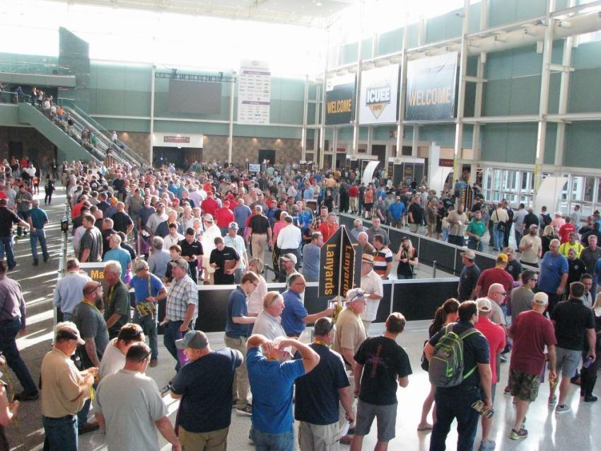 """Registration was a """"well-oiled machine"""" early morning on day-one as attendees flocked to attend the first educational sessions and opening day of the show floor."""