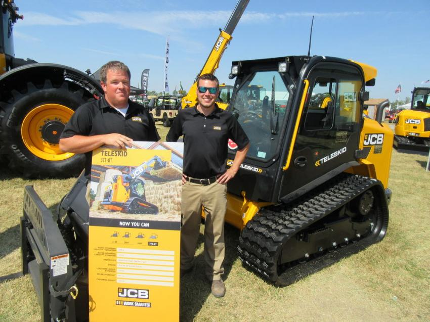JCB's Brandon Hawkins (L) and Brock Shoemaker found that, since its introduction as the world's first compact track loader with a telescopic boom, the JCB Teleskid 3TS-8T continues to attract a great deal of interest.