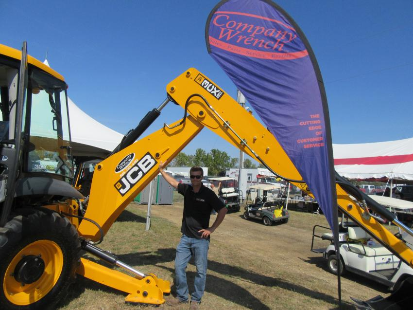 Jesse Wotruba, Company Wrench's JCB territory sales manager, was on hand to talk about the company-wide range of equipment geared for agricultural and construction applications.