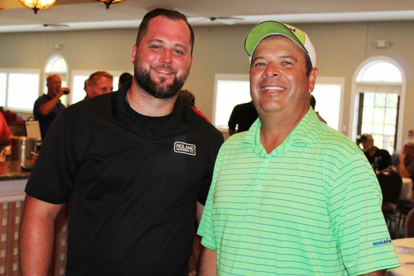 Jordan Ashley (L), sales representative of Roland Machinery, and Mike McNamara, general manager of the Chicago Division of Roland Machinery, were in attendance.