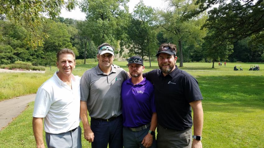 (L-R) are Dan Pavan, Randy Bromberek, Jack Keeler and Dan Larson of LafargeHolcim.