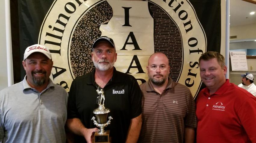 (L-R): Collin Swift, Paul Harrison, Matt Blumenstock of Horton Supply and Shawn Spina of Astralloy returned with a 68 on the Coyote Creek course for a third-place trophy.