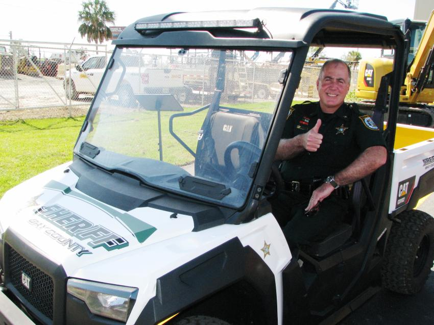 The Bay County Sheriff's office also was presented with a new Cat CUV82 and Sherriff Tommy Ford gave the donation a big thumbs up.