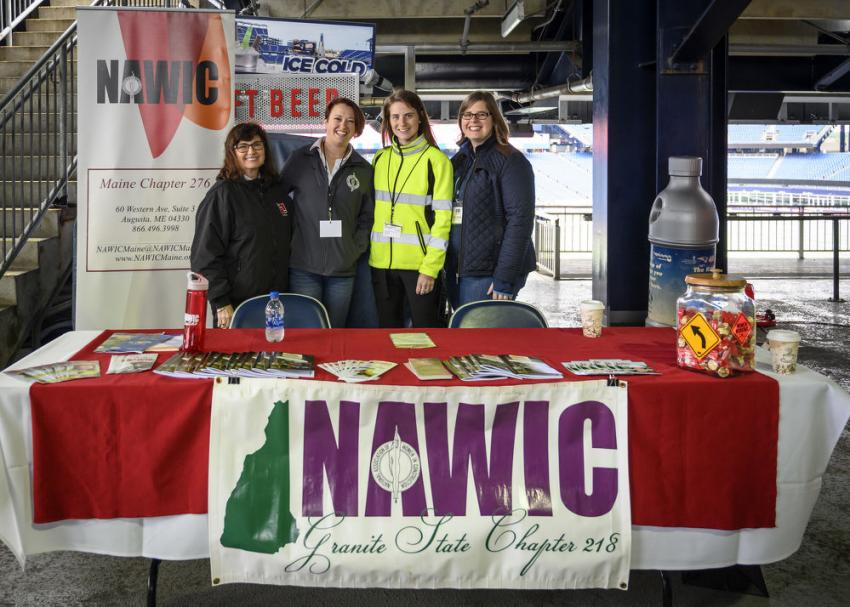 (L-R): Jennie Colosi, Heather Groves, Lindsey Draleau and Jessica Murphy National Association of Women in Construction, Northeast Region.