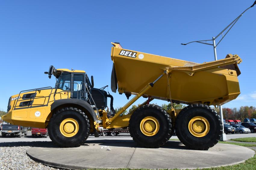 This Bell model B45E articulated truck is just one example of the huge variety of earthmoving equipment from a wide scope of manufacturers available at Tracey Road Equipment.
