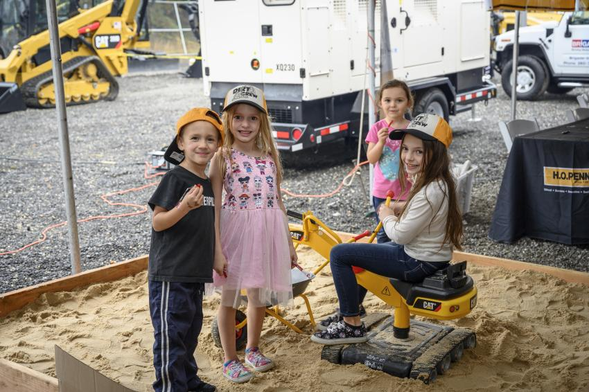 Customer appreciation extends to the children invited to enjoy the event with this special sandbox, which included mini Caterpillar equipment.