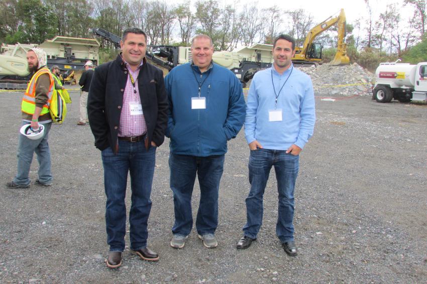 (L-R): Jim Marzolino, vice president; Justin Sulla, general manager; and Mark Shibley, corporate secretary, all of Kriger Construction, Scranton, Pa.