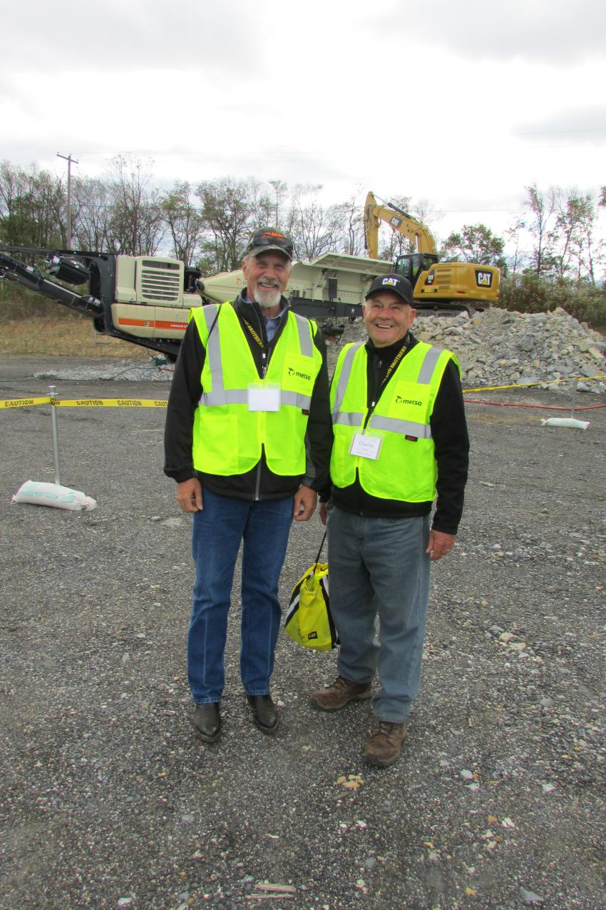 Ernie Miller (L), corporate secretary, and Charlie Zeager, both of Zeager Brothers, Middletown, Pa.