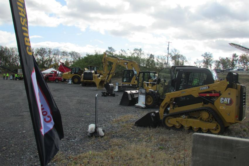 Also on display during the live crushing demo event was a fleet of Caterpillar equipment, all of which can be an essential part of successful aggregate operations.