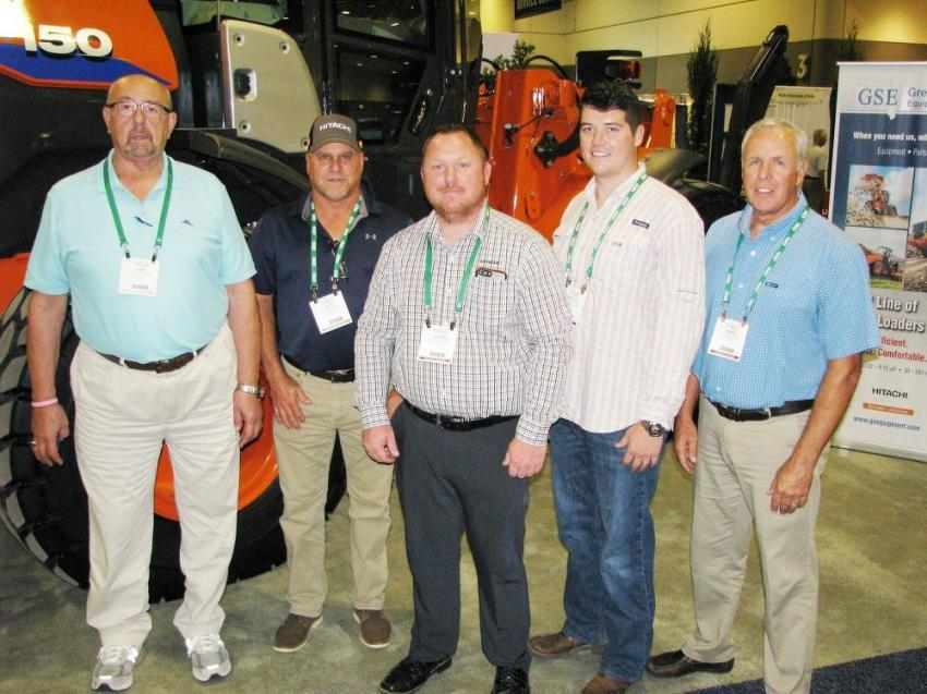 Very active members in the Florida Nursery, Growers & Landscape Association is Great Southern Equipment (GSE), participating in its fifth year at the Landscape Show. Some of their representatives (L-R) included John Roseberry, David Williams, Dustin Hoogeveen of Hitachi, Newnan, Ga., Dustin Caldwell and Wayne Keaton.