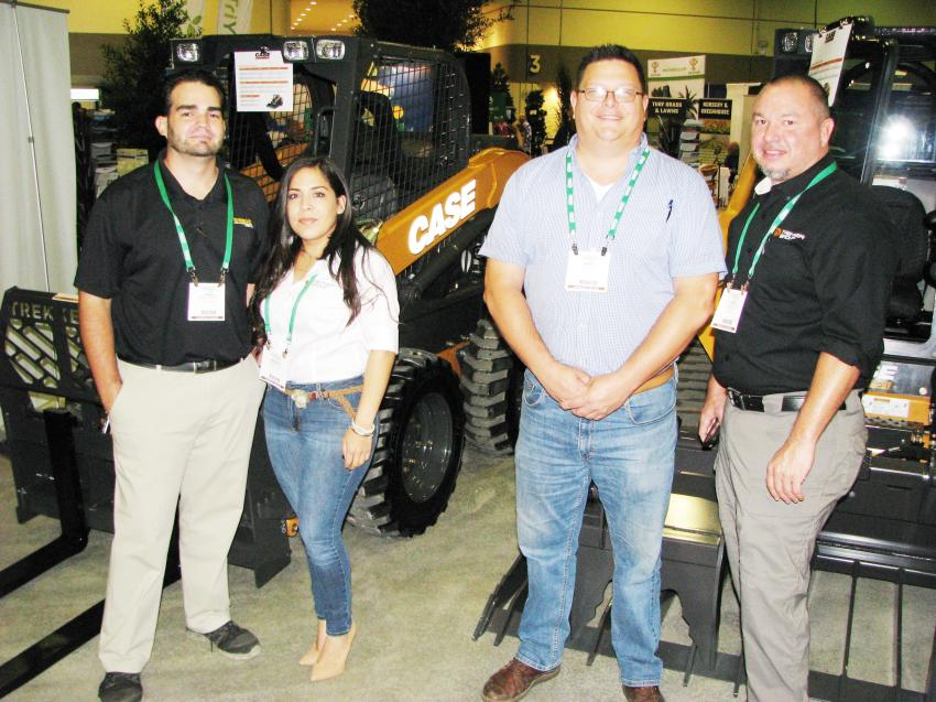 (L-R): Trekker Tractor's Jorge Reveron, Maxine Miller, Matt Guist and Todd Harrison had the Case compact machine solutions that the landscape contractors were looking for.