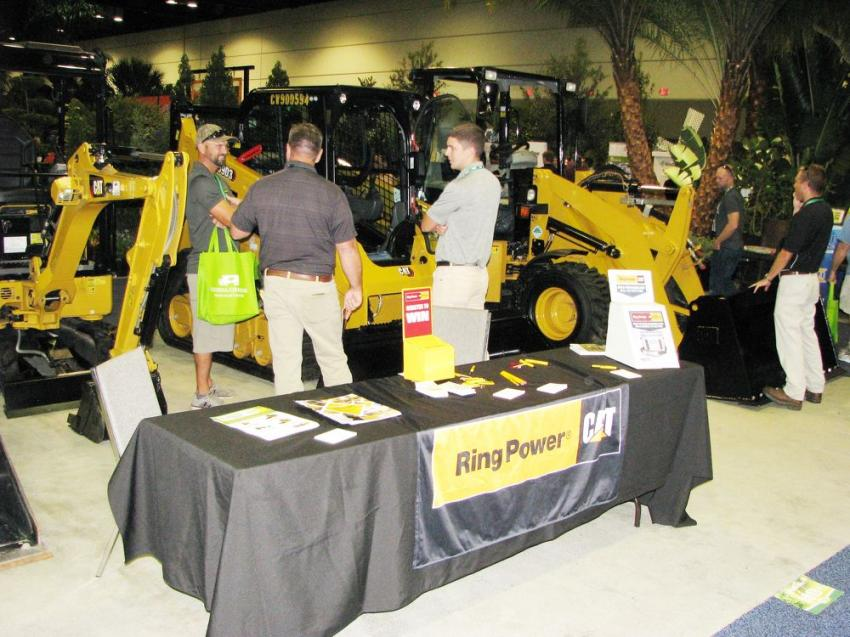 Ring Power representatives kept quite busy introducing show attendees to the newest Caterpillar models of compact track loaders and mini-excavators.