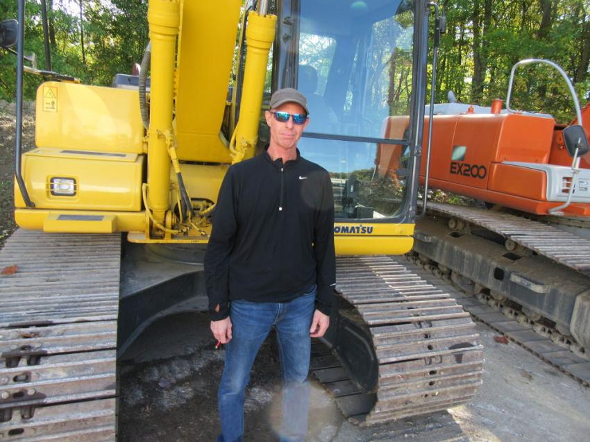 Tim Perrin of Perrin Asphalt and Concrete stopped in at the auction in pursuit of equipment bargains.