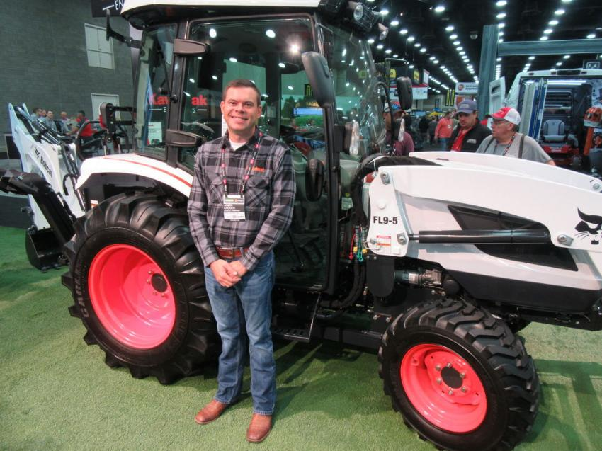 Bobcat's James Crouch was on hand to discuss the launch of the company's sub-compact and compact tractors at the show.