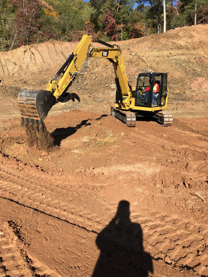 The Cat 308 CR mini-excavator delivers maximum power and performance in a mini size to help you work in a wide range of applications.