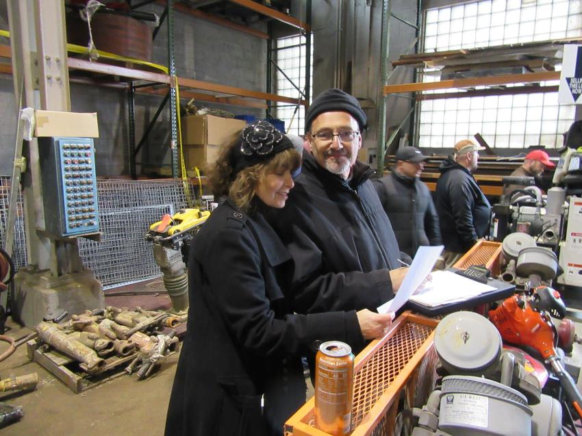 Rosen & Company's Sheila and Marvin Rosen were on hand to ensure that everything ran smoothly at the auction.