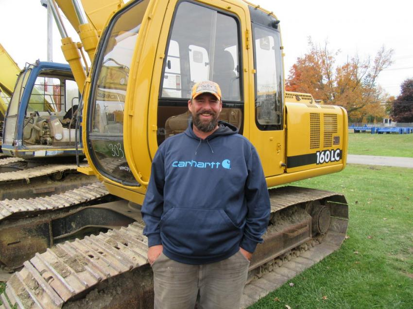 Pete Easton of Easton Trucking came to the auction in search of an excavator.