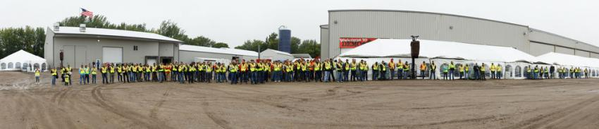 Rotochopper, manufacturer of horizontal grinders, wood chip processors, asphalt shingle grinders and mobile bagging systems, held its ninth annual Demo Day event at its facility in St. Martin, Minn.