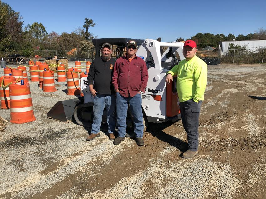 (L-R) are Ed Roy Jr., Ed Roy Sr. and Jensen Roy, all of Roy & Son Grading in Concord, N.C.