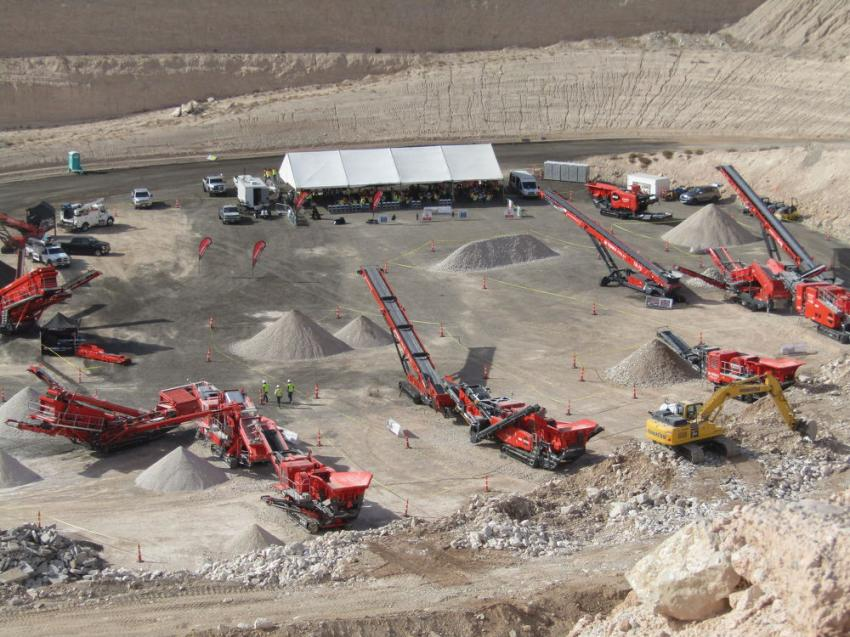 Terex Finlay, in conjunction with Kimball Equipment Company, hosted a successful Open Day event Nov. 14 and 15 in Las Vegas.
