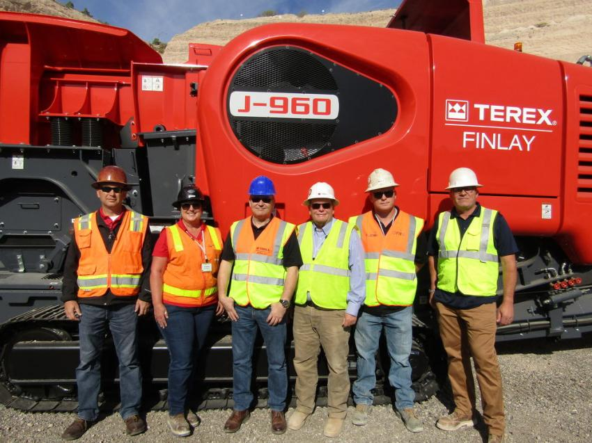 (L-R): Tom Uphoff, Kimball Equipment branch manager, Arizona. and Corona, Calif., is joined by Cy Yearman, Kimball Equipment branch manager, Reno, Nev;, Mark Trainor, regional sales manager, Terex Finlay; Mark Oviatt, president, Kimball Equipment; Nick Jordan, Kimball Equipment branch manager, Sacramento, Calif.; and Kurt Rainbolt, Kimball Equipment, Las Vegas.