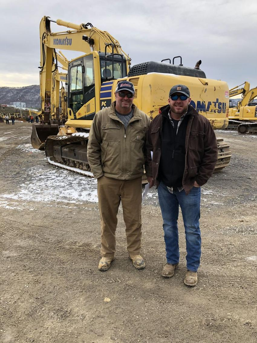 Jeremy Baker (L) of Baker's Construction in Bluff City, Tenn., and Matt McQueen of Power Equipment Company in Kingsport, Tenn.