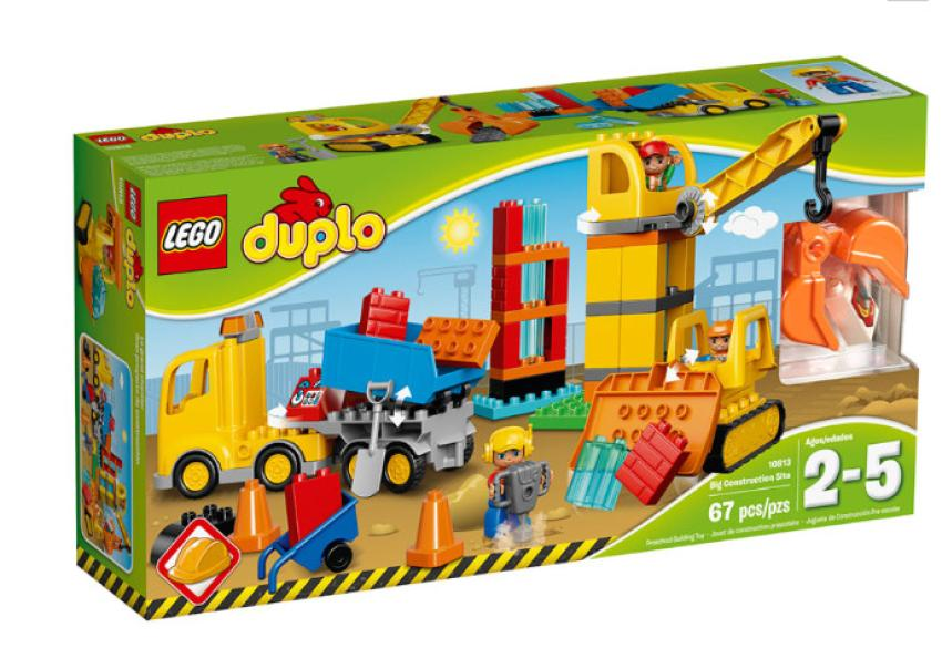 LEGO Duplo Big Construction Site — With a construction site this fun, your little one will be even more excited than ever to follow in mom or dad's footsteps. A tower crane, dozer and truck help get the job done in a big way. Suitable for children aged 2 to 5. $45.99
