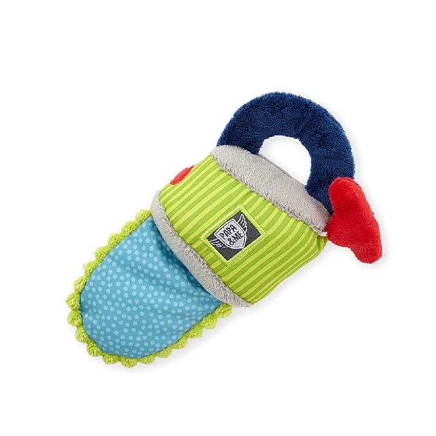 Saw Grasp Toy — You won't need to worry about safety training for your little one with this plush chainsaw. A motor and a crinkly blade are sure to provide hours of entertainment for children ages 0 to 3. $18.00
