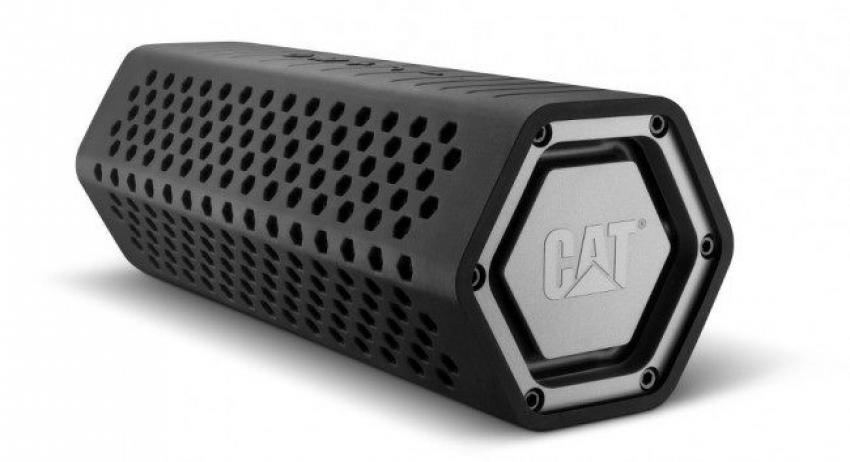 Cat Rugged Wireless Speaker — Get the music flowing on the job site with this portable, wireless speaker from Caterpillar. This rugged design is shockproof, water resistant and dust proof, and features Bluetooth wireless technology and hands-free calling. $89.99