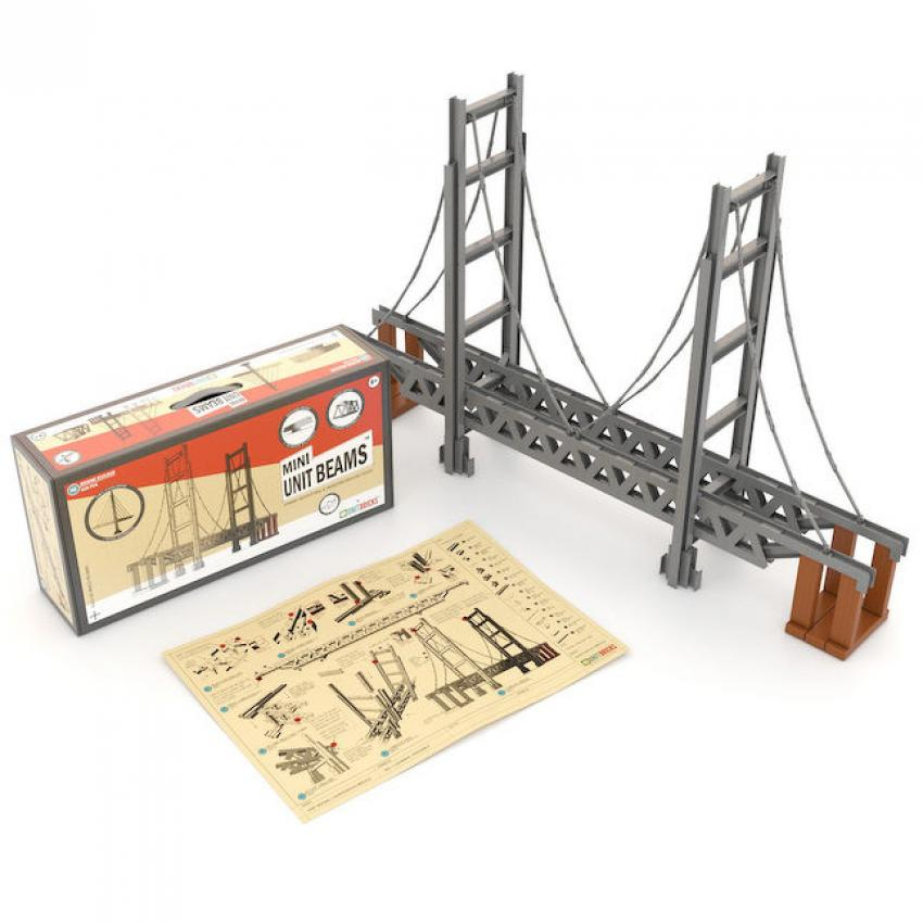 Mini Unit Beams – Bridge Builder Set — Calling all aspiring engineers! This 620-piece set is the perfect way for children aged 6 and up to get a grasp on the ins and outs of bridge building. The kit provides instructions to build four types of bridges using STEM concepts. $138.95