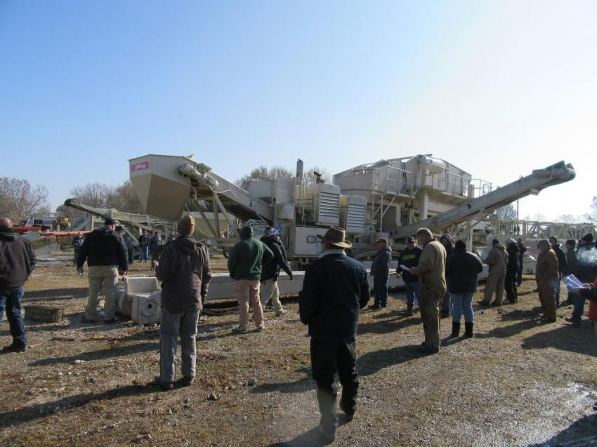 Plenty of equipment was up for bid.