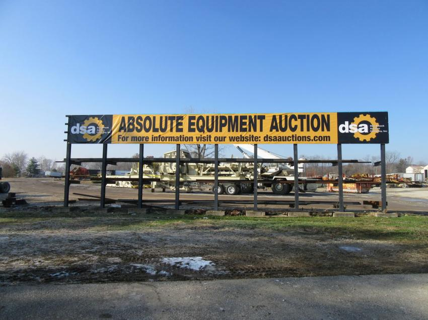 Don Smock Auction Company held an absolute crushing and screening auction for the JW Jones Company on Nov. 15.