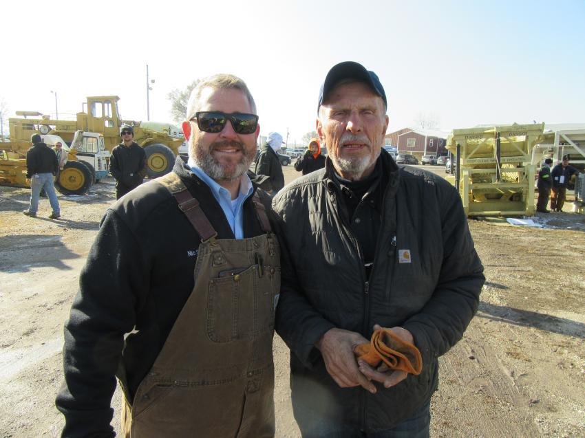 Don Smock Auction Company president, Nic Smock (L) joined John Jones of JW Jones Company at the auction.