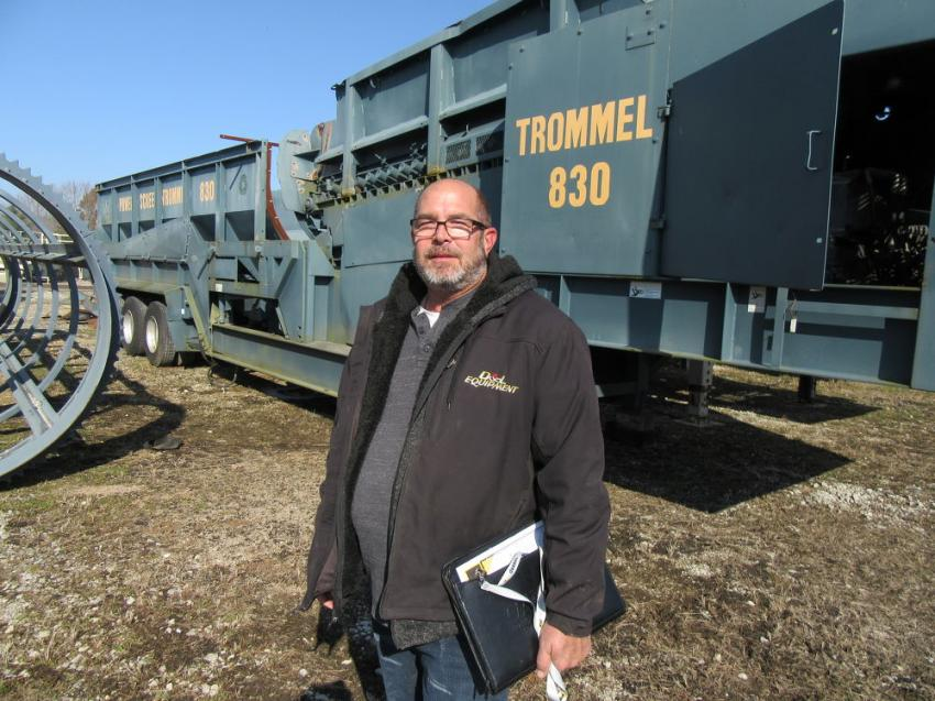 Ken Clemons of D&L Equipment Inc. came to the auction to review the equipment.