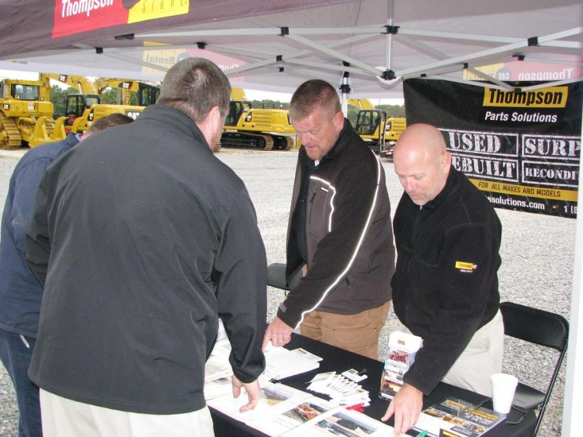 Tommy Riggs and Robby Jasper of the Thompson Parts Solutions division pitched a tent and were exhibiting their used, surplus, rebuilt and reconditioned parts capabilities to the attendees.