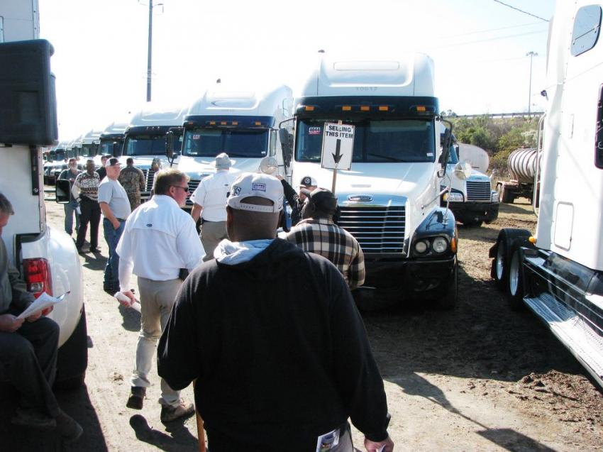 The trucks in the sale brought on some heavy onsite and online bidding.
