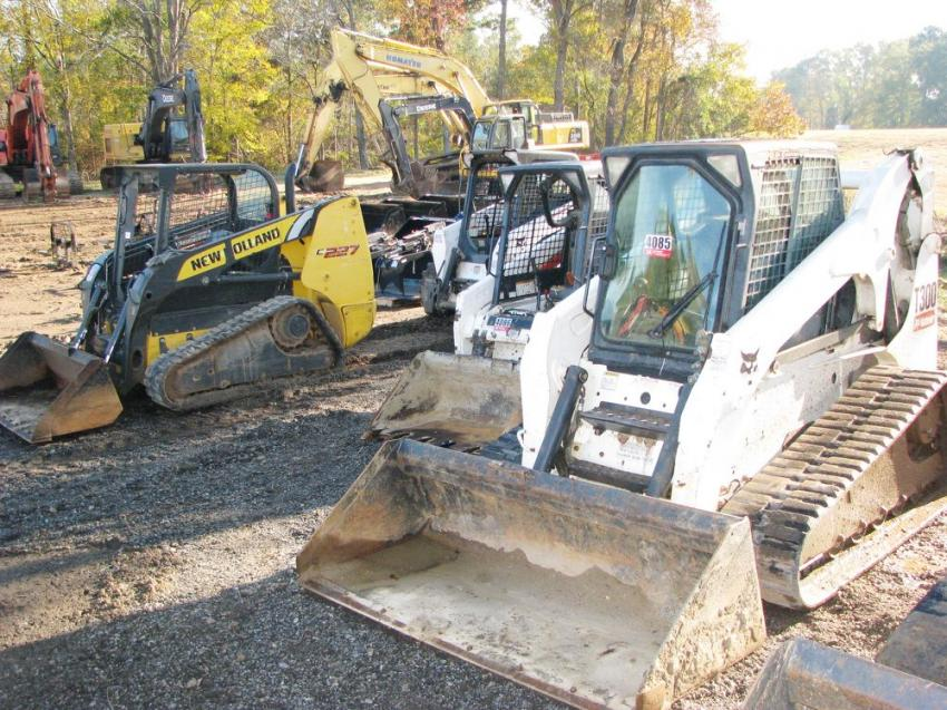 A nice selection of compact and mid-sized machines went on the auction block during the Thomson, Ga., sale.