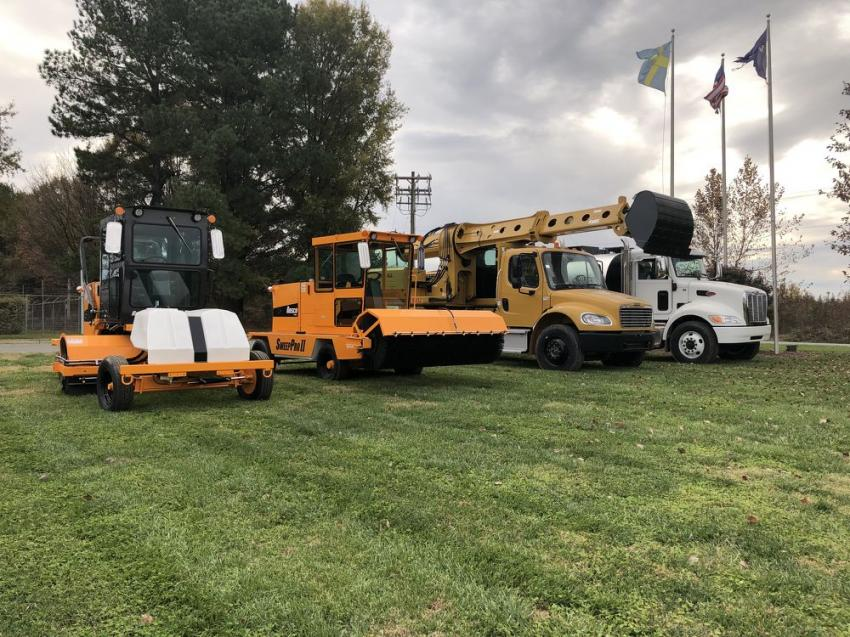 In addition to Volvo, Ascendum Machinery also is authorized distributor of Gradall, LeeBoy and Rosco products. The company offers service for each and is fully stocked for parts.