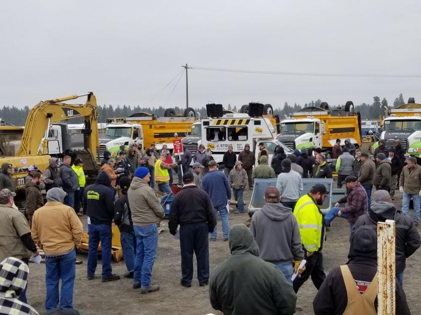 Despite the hint of snow in the air, J. Stout Auctions' hit a record attendance of bidders at the auction Nov. 13, 2019.