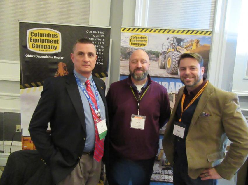 Columbus Equipment Company's Bob Stewart, Jeff Richards and Luke Matheson were on hand to discuss their lineup of equipment geared for the aggregates industry.