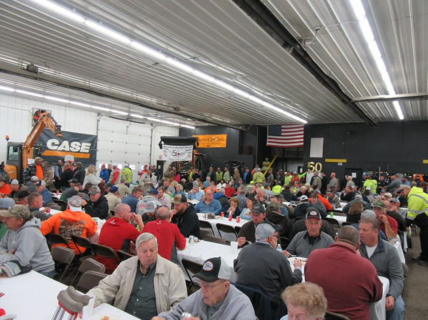 Diamond Equipment's Thanksgiving Open House/50th Anniversary Celebration at the dealership's headquarters set attendance records for the annual event.