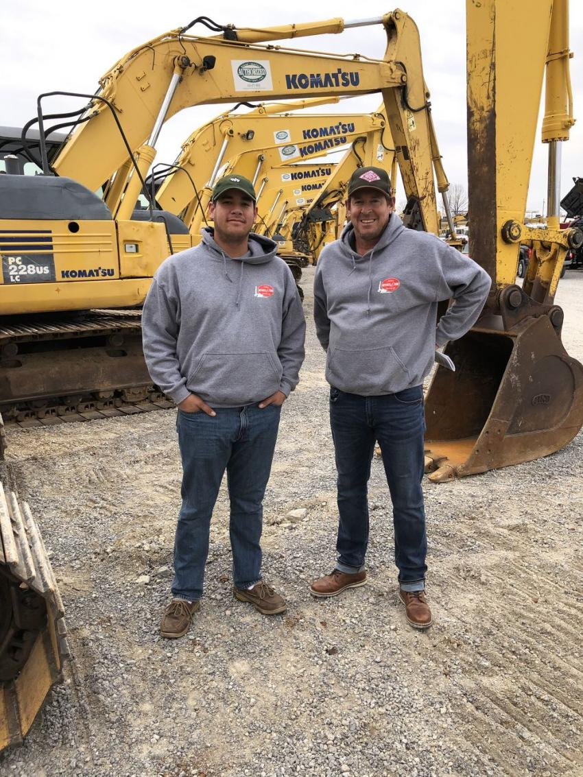 Jim and Scott Mitchell of Mitchell & Sons Drilling & Blasting in Lebanon, Tenn., came to the auction site the day before the sale to inspect the machines they wanted to bid on.