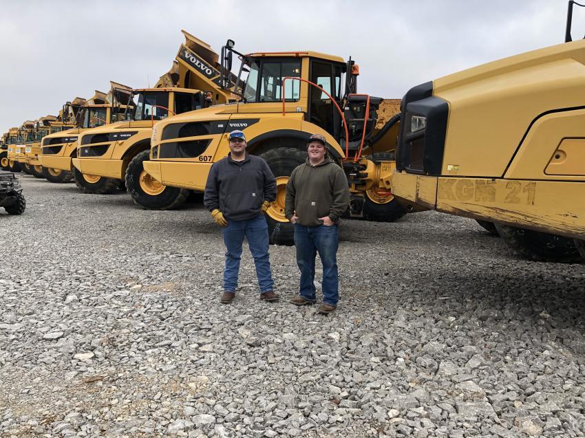 Brady Silcox (L) and John Birdwell, both of NRH Construction in Gallatin, Tenn.