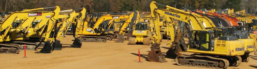 An incredible selection of hydraulic excavators was available at this sale.
