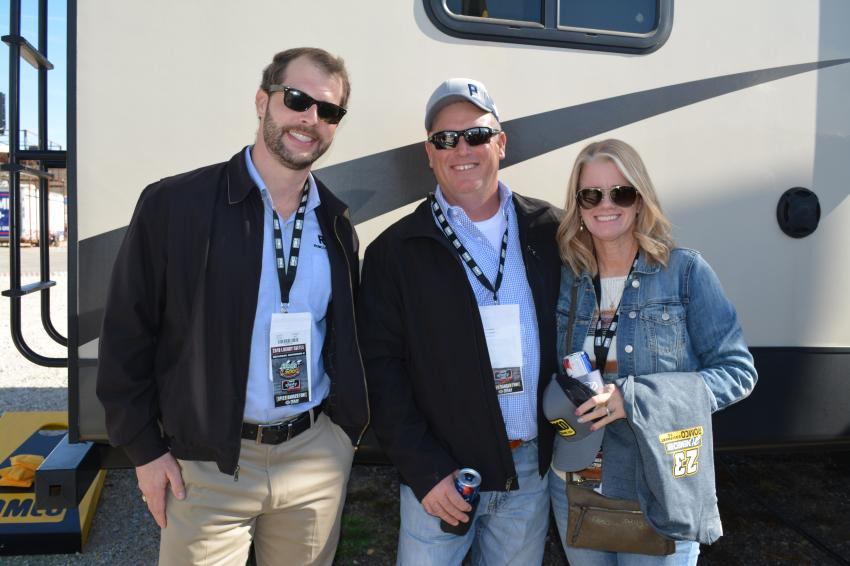 (L-R): Gable Sprague, division manager of ROMCO Power Systems, with Joey and Tammy Offield of PB Materials, a leading aggregate producer in the Permian Basin region of Texas and New Mexico.